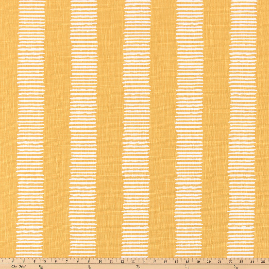 Dash Brazilian Yellow Slub Linen Fabric By Premier Prints