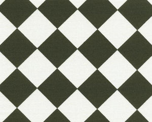 Picture of Black and White Diagonal Checkered Diamond Black Fabric