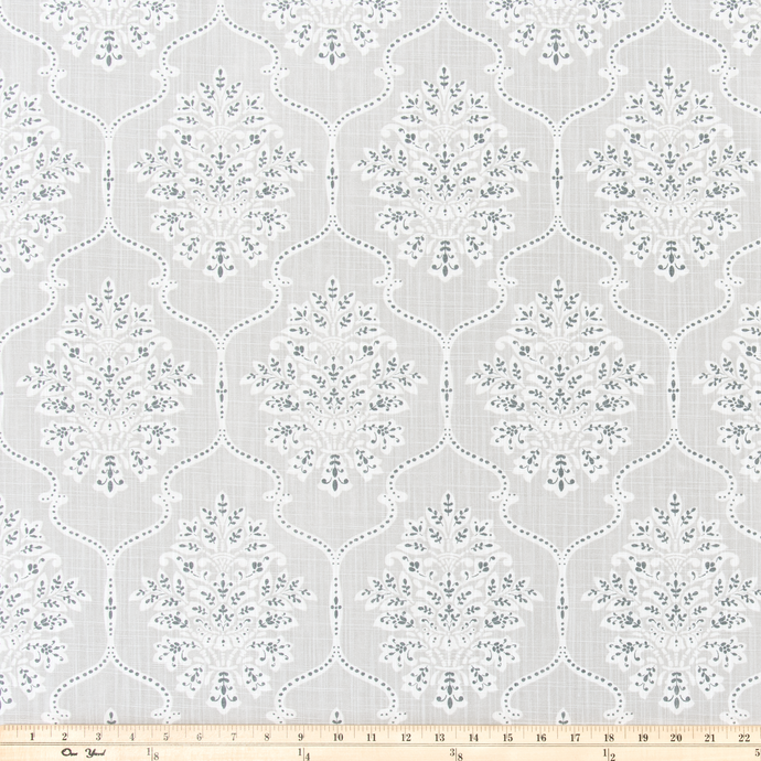 Dreamscape French Grey Slub Canvas Fabric By Premier Prints