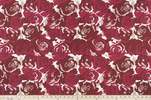Farrah Raspberry Slub Canvas Fabric By Premier Prints