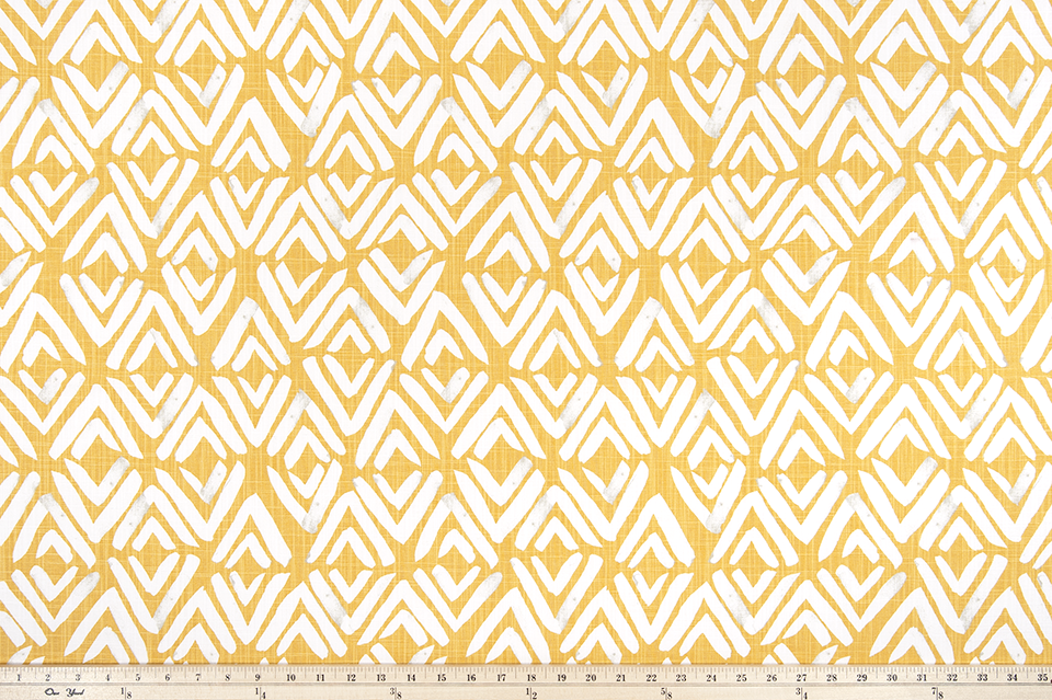 Fearless Brazilian Yellow Slub Canvas Fabric By Premier Prints