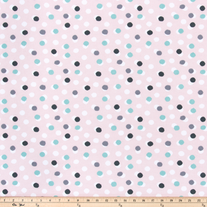 pink free dot english fabric by premier prints