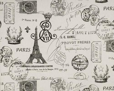 French Stamp Onyx Natural Fabric By Premier Prints