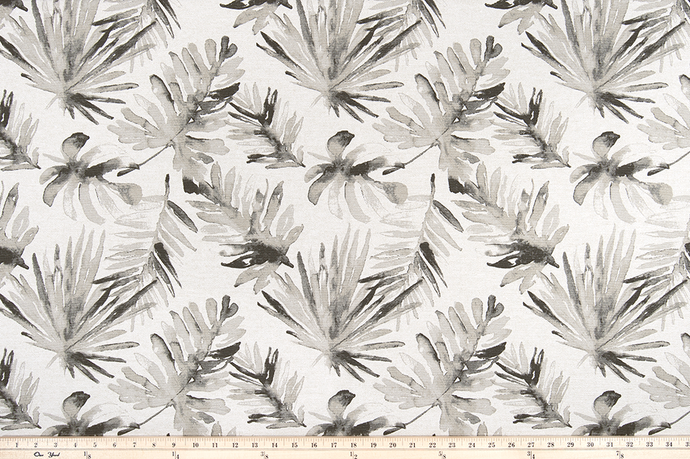 Frond Sable Flax Fabric By Premier Prints