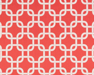 Gotcha Coral White Fabric By Premier Prints