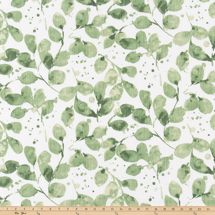 Grove Endive Slub Canvas Fabric By Premier Prints