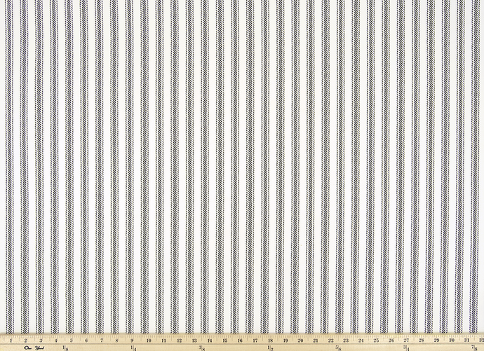 Black and White Ticking Stripe Fabric