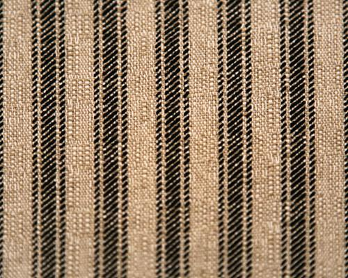 Photo of Ticking Stripe Fabric Named - Black Denton Ticking Stripe Fabric