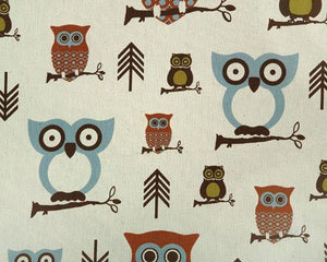 Hooty Village Natural Fabric By Premier Prints