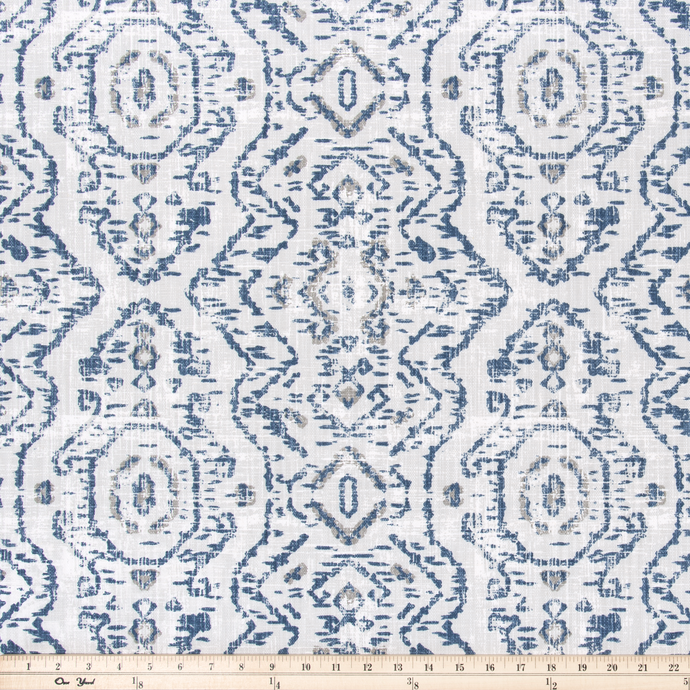 photo of native indian inspired repeating pattern fabric