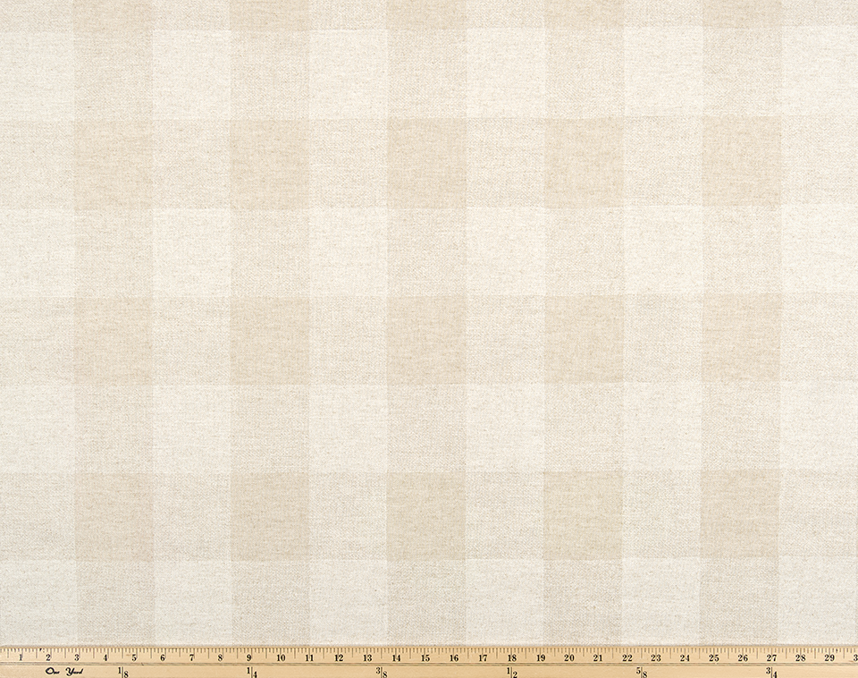 Picture of Light and Cream Buffalo Plaid Check Fabric