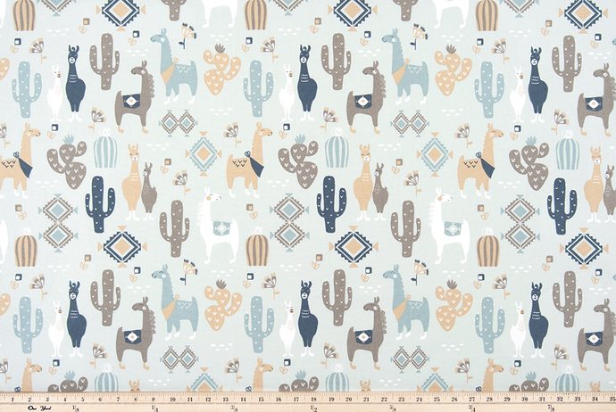 Llama Love Awendela Fabric By Premier Prints