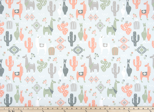 Llama Love Sundown Fabric By Premier Prints