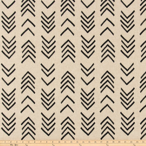 Mud Cloth Black Linen Fabric By Premier Prints