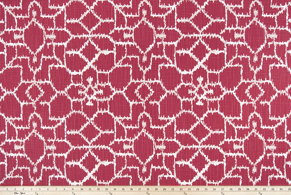Mercado Raspberry Slub Canvas Fabric By Premier Prints