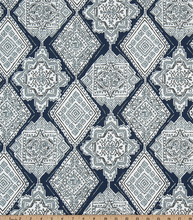 Milan Vintage Indigo Fabric By Premier Prints