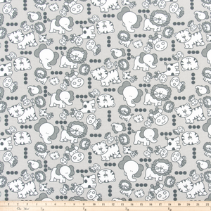 Mini Babies French Grey Fabric By Premier Prints