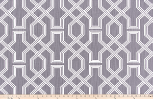 photo of lattice or trellis pattern on medium grey fabric