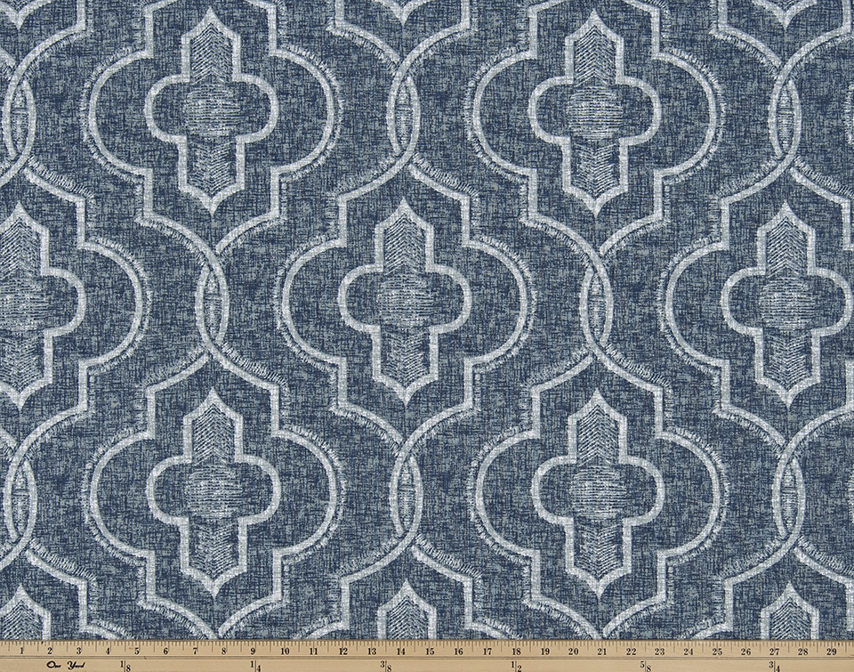 Newport Vintage Indigo Fabric By Premier Prints