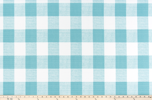 Picture of Aqua Teal Blue Buffalo Plaid Check Fabric