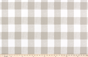 Picture of Light Beige Buffalo Plaid Check Fabric
