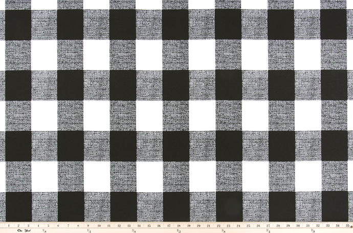 Black Buffalo Plaid Check Fabric