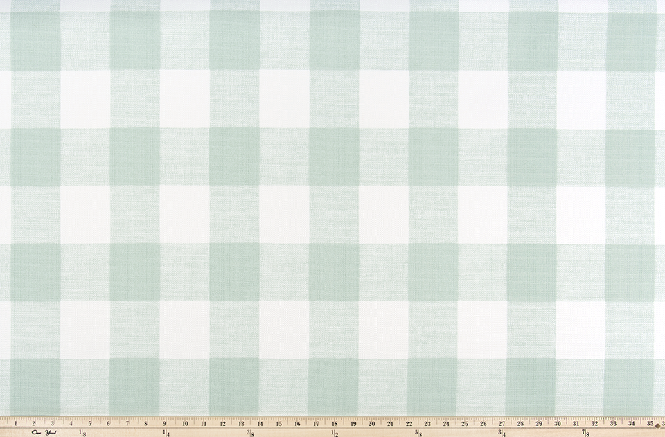 Picture of Light Mint Green Buffalo Plaid Check Fabric
