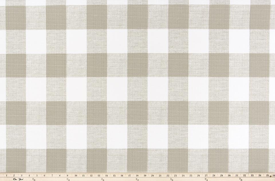 Picture of Light Tan Buffalo Plaid Check Fabric