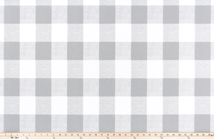 Medium Grey Buffalo Plaid Check Fabric