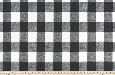 Picture of Black Buffalo Plaid Check Fabric