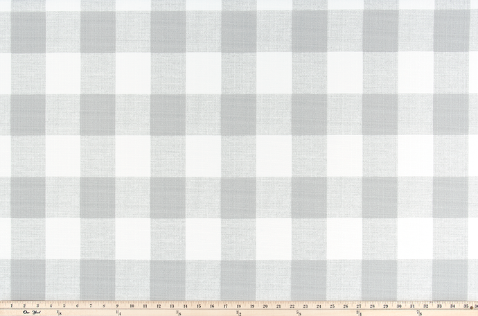 Picture of Light Grey Buffalo Plaid Check Fabric