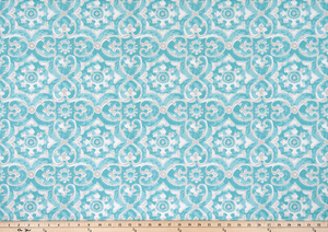 Outdoor Fabric - Athens Aqua Polyester