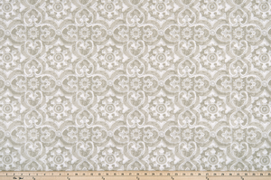picture of greek inspired geometric lattice pattern outdoor fabric