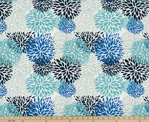 Picture of Blooms Blue Vista Fabric