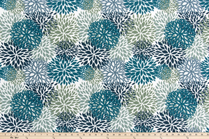Outdoor Fabric - Blooms Oxford Fabric By Premier Prints