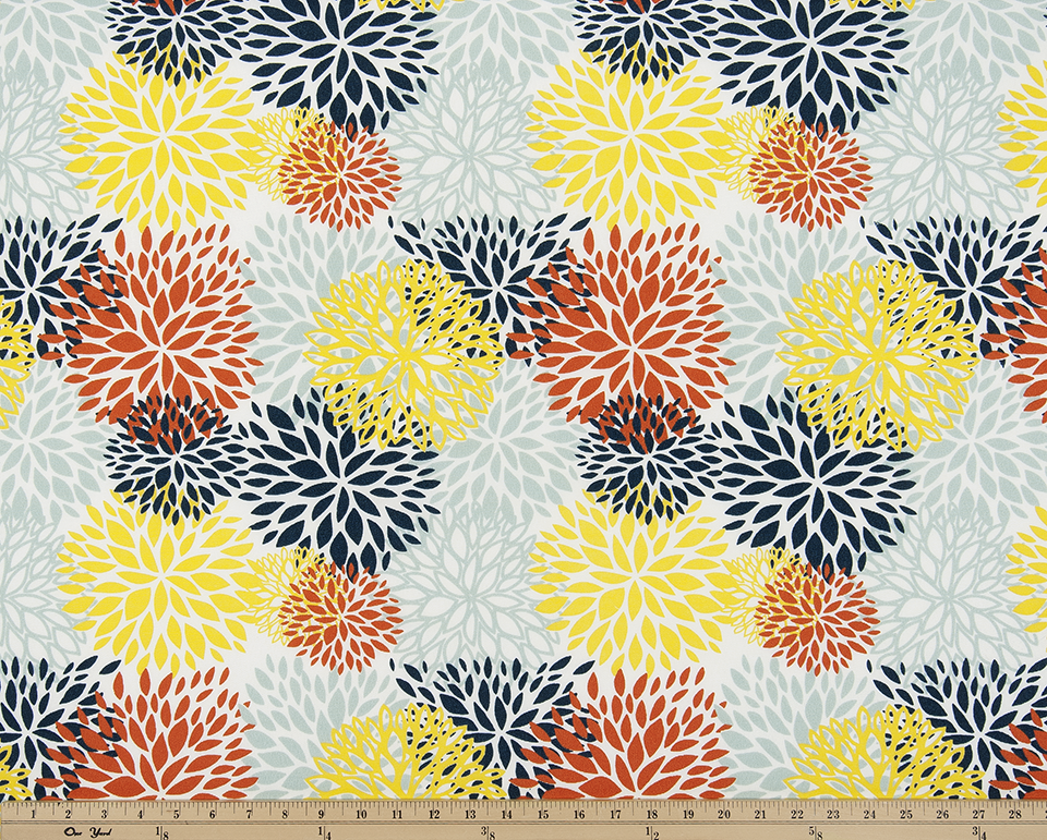 Picture of Blooms Perla Fabric