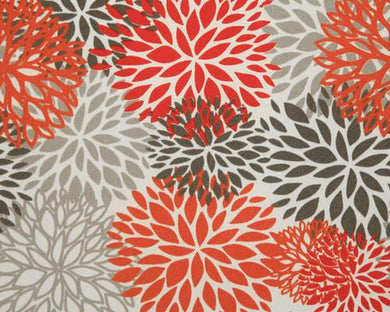 Picture of Blooms Salmon Fabric