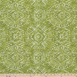picture of green native inspired fabric