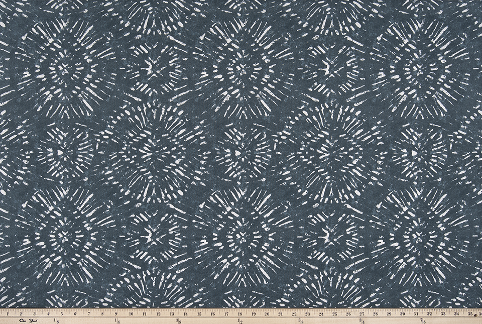 Outdoor Fabric - Borneo Slate Blue Polyester