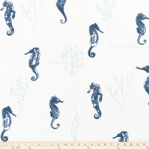 Ocean Love Italian Denim Slub Canvas Fabric By Premier Prints