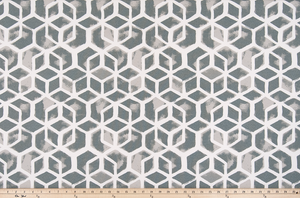 picture of square and polygon geometric pattern on outdoor beach fabric
