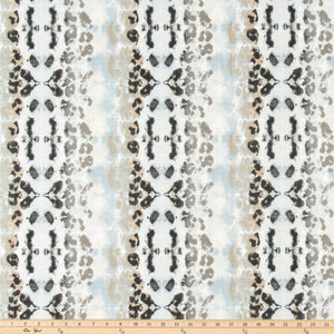 Outdoor Fabric - Mali Mineral Blue Luxe Polyester Fabric By Premier Prints