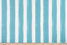 picture of blue striped outdoor fabric