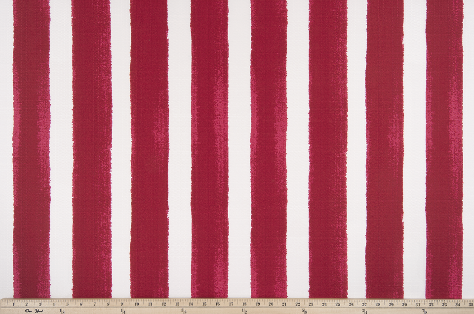picture of outdoor fabric red stripes