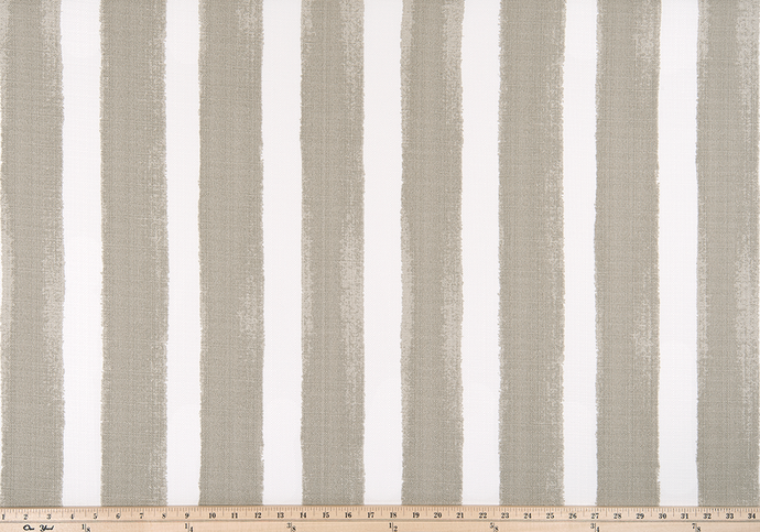 photo of a tan or beige colored striped outdoor fabric