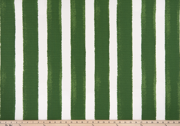 a picture of watercolor stripe green outdoor fabric