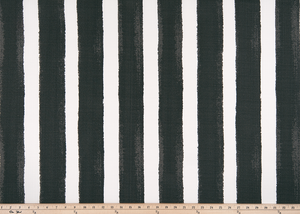 picture of black striped outdoor fabric by premier prints
