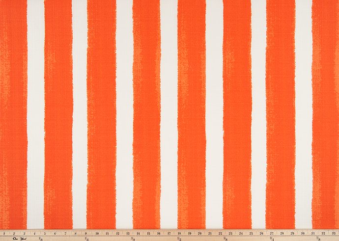 picture of orange striped fabric