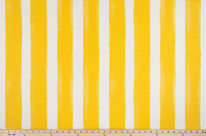 picture of yellow striped outdoor fabric