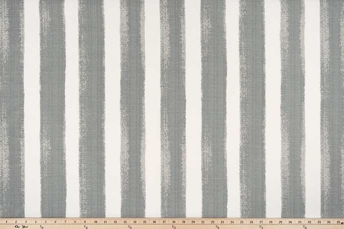 picture of watercolor grey striped outdoor fabric swatch memo